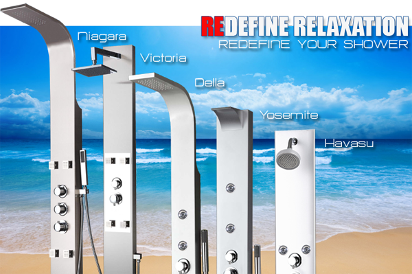 one piece shower faucet. Klazz  Shower Panels One Piece Toilets Bathroom Plumbing South Florida